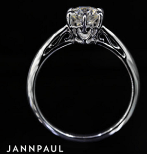 custom solitaire diamond proposal ring