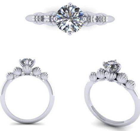 Disney Inspired Customised Proposal Diamond Ring Design By Jannpaul Diamonds Singapore