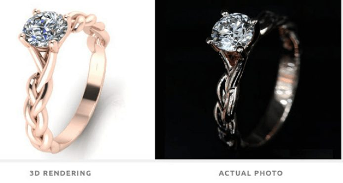 beautiful rose gold solitaire diamond ring