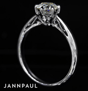 white gold diamond proposal ring