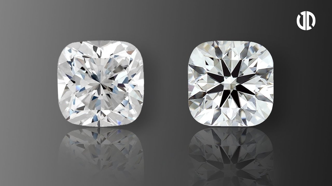 Light Performance Comparison Between Cushion Brellia And Normal Cushion Cut Diamond