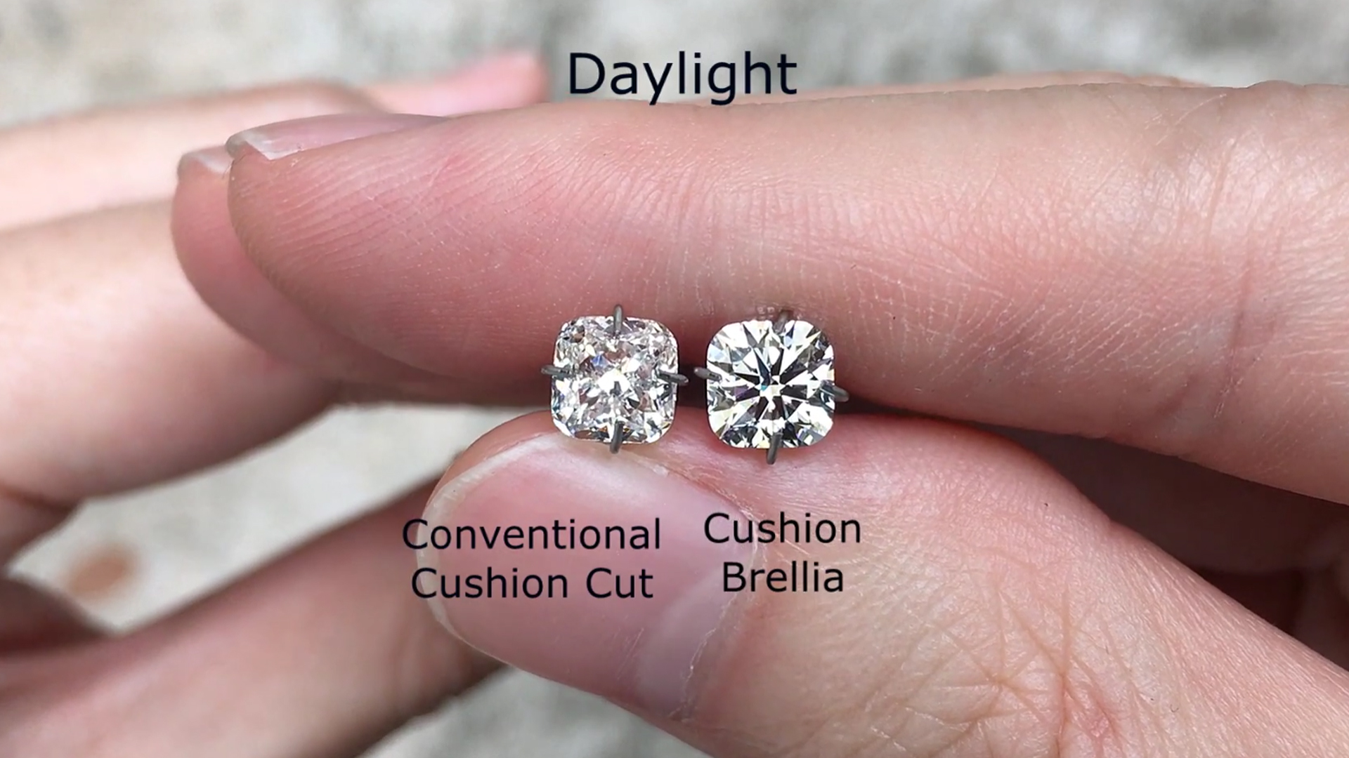 Why the Cushion Brellia Appears Whiter Compared to other Cushion Cut Diamonds