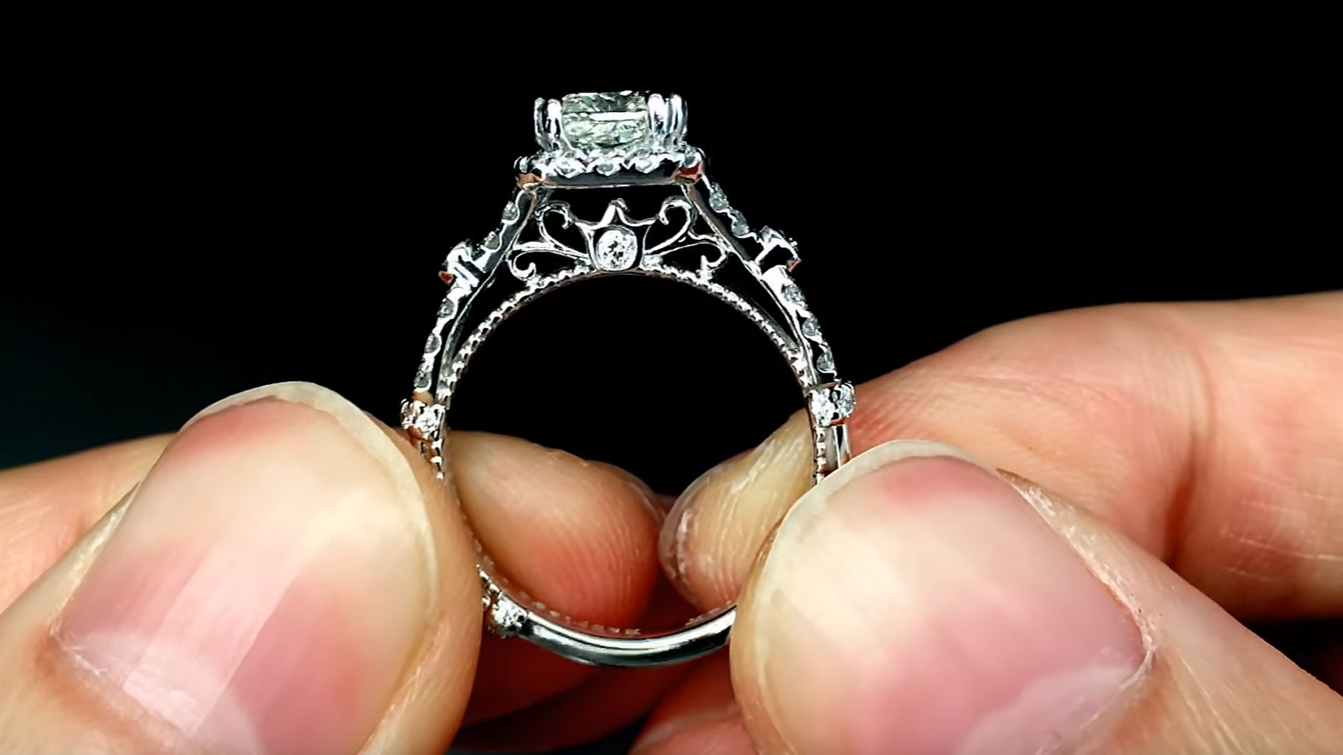 Verragio Parisian DL109P Halo Engagement Ring